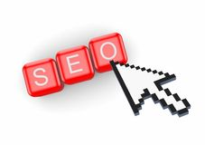 Concept de SEO. Photo stock