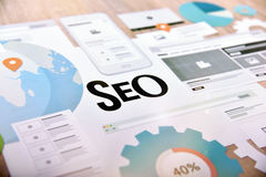 Concept de SEO pour le site Web et la bannière mobile Images libres de droits