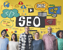 Concept de SEO Search Engine Optimization Internet Digital Photo stock