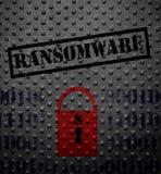 Concept de serrure de Ransomware Images libres de droits