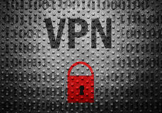 Concept de serrure de sécurité de VPN photo stock