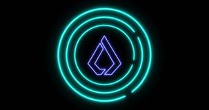 Concept de serrure de Digital de nier l'accès avec le symbole de cryptocurrency de Lisk LSK clips vidéos
