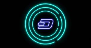 Concept de serrure de Digital de nier l'accès avec le symbole de cryptocurrency de TIRET de tiret illustration libre de droits