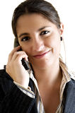 Concept de service à la clientèle de femme d'affaires Image libre de droits