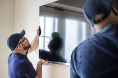 Concept de service d'installation de la livraison de meubles images libres de droits