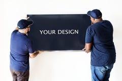 Concept de service d'installation de la livraison de meubles images stock