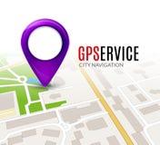 Concept de service de GPS de carte de ville de perspective conception de carte de la ville 3d Photos libres de droits