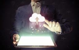Concept de service de stockage de nuage images libres de droits