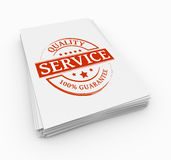 Concept de service de timbre Photo stock