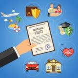 Concept de services d'assurance Images libres de droits