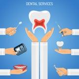 Concept de services dentaires Images stock