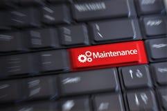 Concept de services de maintenance avec le bouton de clavier comme raccourci image libre de droits