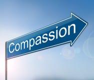 Concept de signe de compassion illustration stock