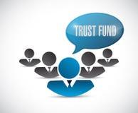 concept de signe d'équipe d'avatar de fonds en fidéicommis Image stock