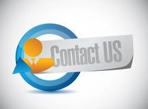 concept de signe de cycle de personnes de contactez-nous Photos stock