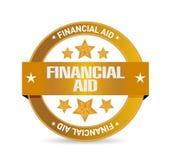 concept de signe de joint d'aide financière Images libres de droits