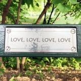 Concept de signe de mot d'amour Image stock