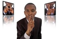Concept de silence Photos stock