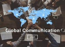 Concept de site Web de mise en réseau de connexion de télécommunication mondiale Photographie stock libre de droits
