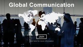 Concept de site Web de mise en réseau de connexion de télécommunication mondiale Photos stock