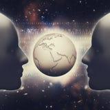 Concept de société de l'information Image libre de droits