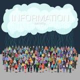 Concept de société de l'information Photographie stock libre de droits