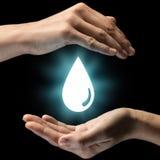 Concept de soin des ressources en eau photos stock