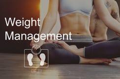 Concept de soins de santé de forme physique d'exercice de gestion de poids photo libre de droits