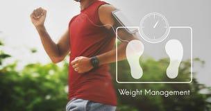Concept de soins de santé de forme physique d'exercice de gestion de poids Photographie stock libre de droits