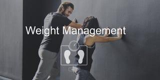 Concept de soins de santé de forme physique d'exercice de gestion de poids Images stock