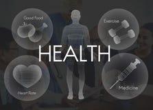 Concept de soins de santé de vitalité de bien-être de bien-être de santé Photographie stock libre de droits
