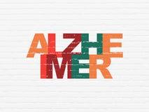 Concept de soins de santé : Alzheimer sur le fond de mur Images libres de droits