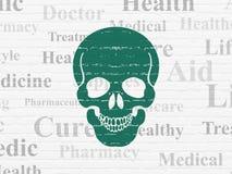 Concept de soins de santé : Aviron sur le fond de mur illustration de vecteur