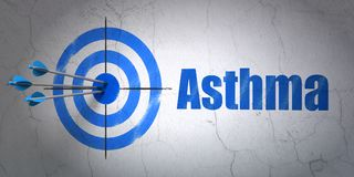 Concept de soins de santé : cible et asthme sur le fond de mur Photographie stock libre de droits