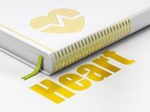 Concept de soins de santé : coeur de livre, coeur sur le fond blanc Photos libres de droits