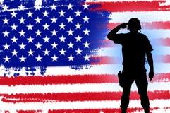 Concept de soldat de patriote des Etats-Unis illustration libre de droits