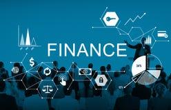 Concept de solde de dette d'argent de finances photographie stock