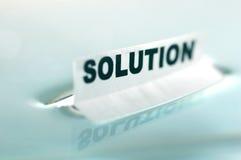 Concept de SOLUTION Photographie stock