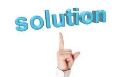 Concept de solution. Images stock
