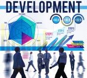 Concept de solution d'amélioration de croissance de but de développement photos libres de droits