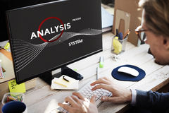 Concept de solution d'Analysis Process System Company Images stock