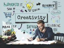 Concept de solution de compétence d'imagination d'idées de créativité photo libre de droits