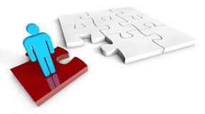 Concept de solution de puzzle Photo stock