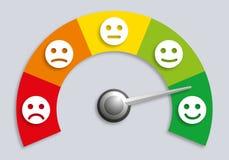 Concept de sondage d'opinion avec un mètre licencié de niveau de satisfaction illustration de vecteur