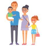 Concept de sourire de parenting d'unité de groupe de bonheur adulte de personnes de famille et parent occasionnel, gais, mode de  illustration libre de droits