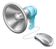 Concept de souris de mégaphone Photo stock