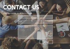 Concept de soutien d'aide de correspondance de contactez-nous photo libre de droits
