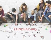 Concept de soutien de base de charité de donations de collecte de fonds photos libres de droits