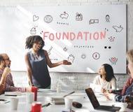 Concept de soutien de charité de donations de base image libre de droits
