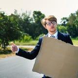 Concept de soutien de Corporate Enterprise Help d'homme d'affaires image stock